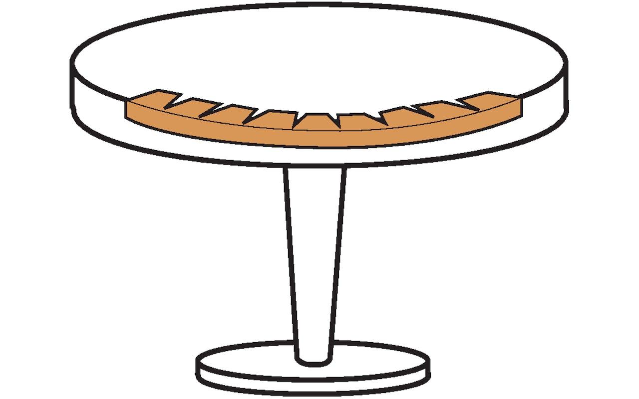 Skizze Kantenschutz Tisch