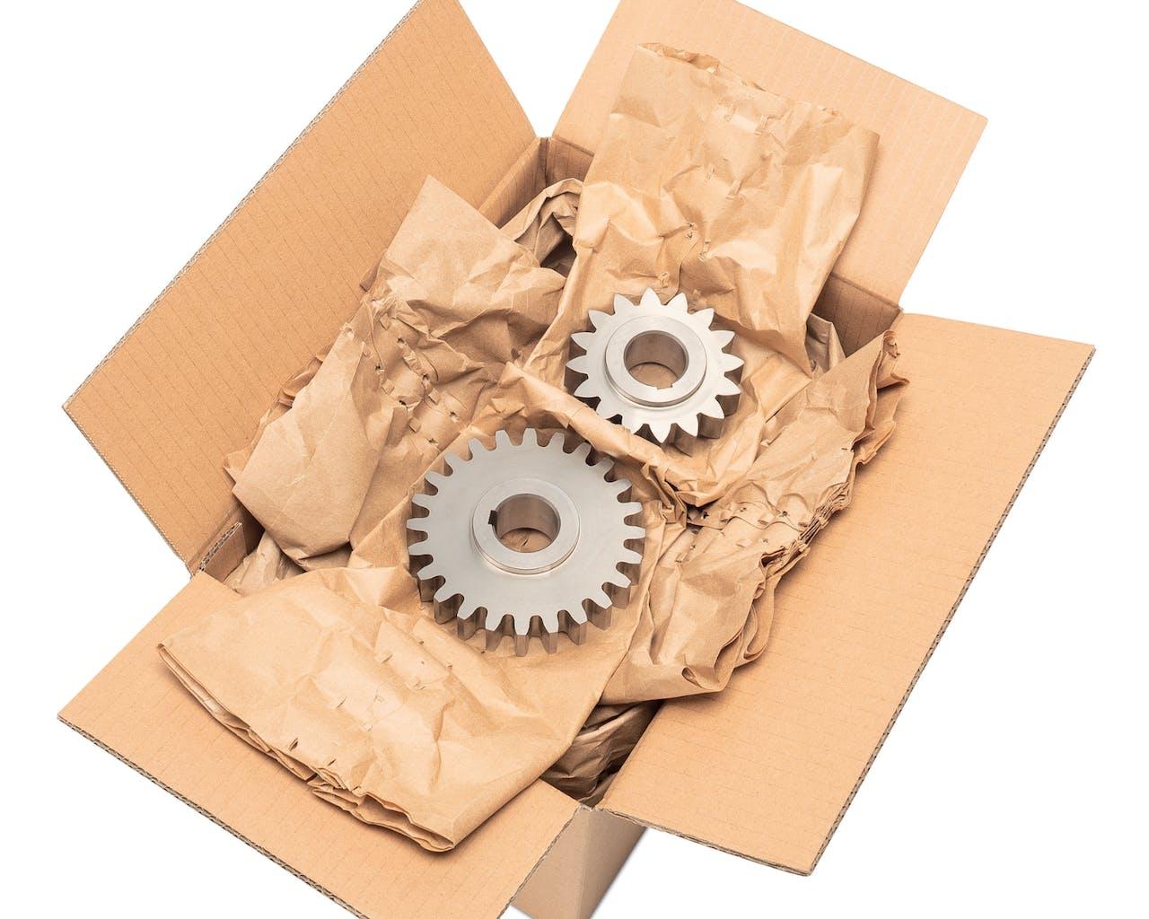 Polstermaterial Papier in Karton