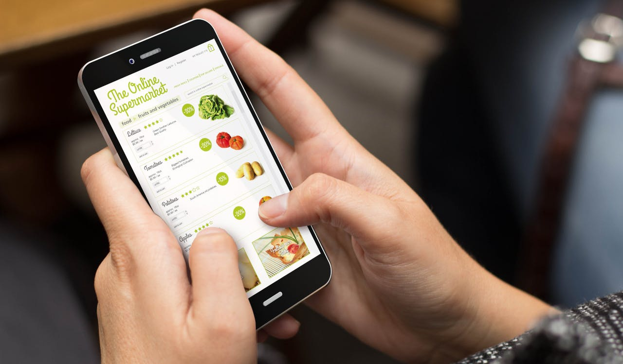 Gemüse bestellen via App