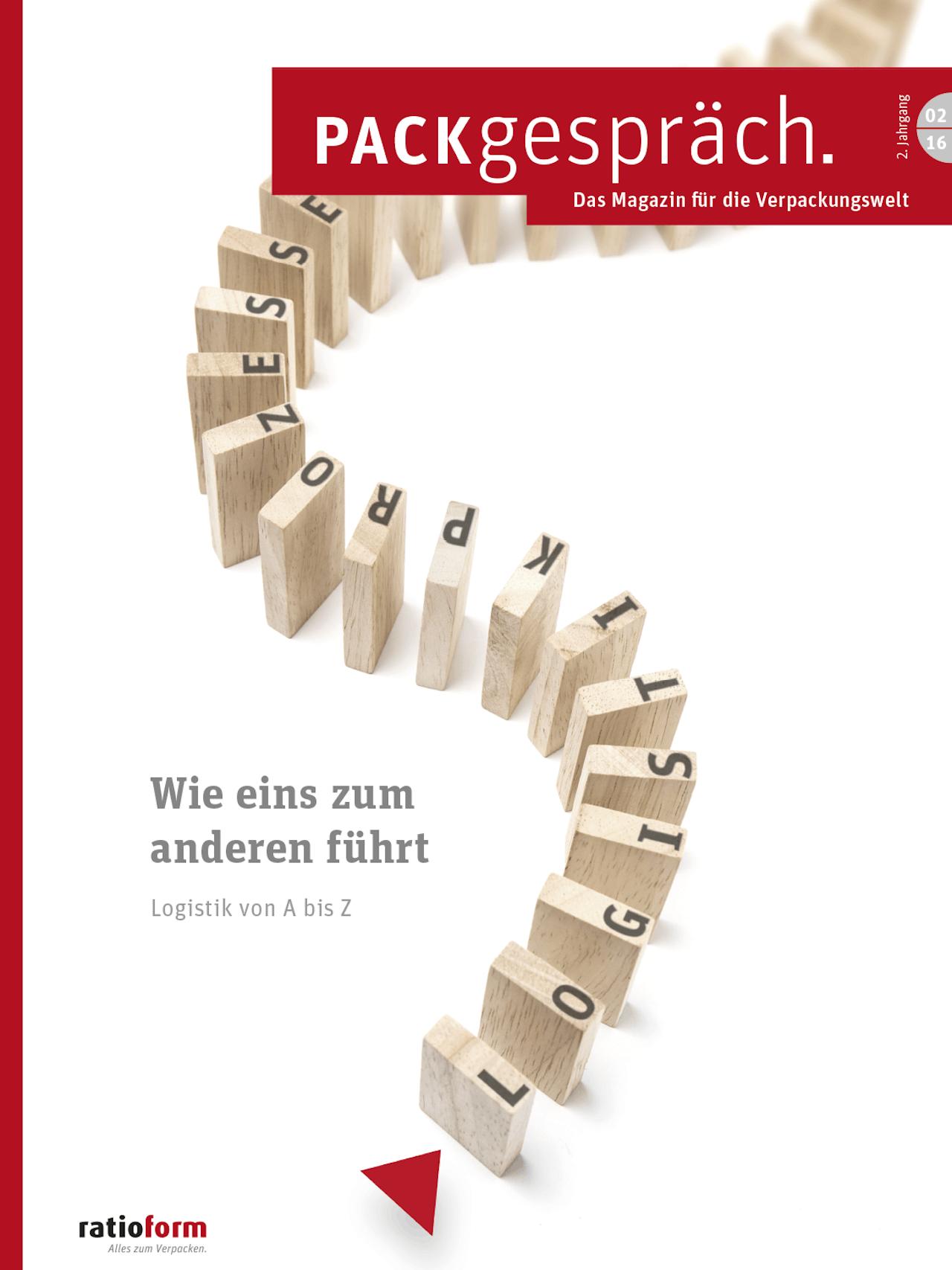 Packgespräch, Magazin Verpackungswelt 02 16