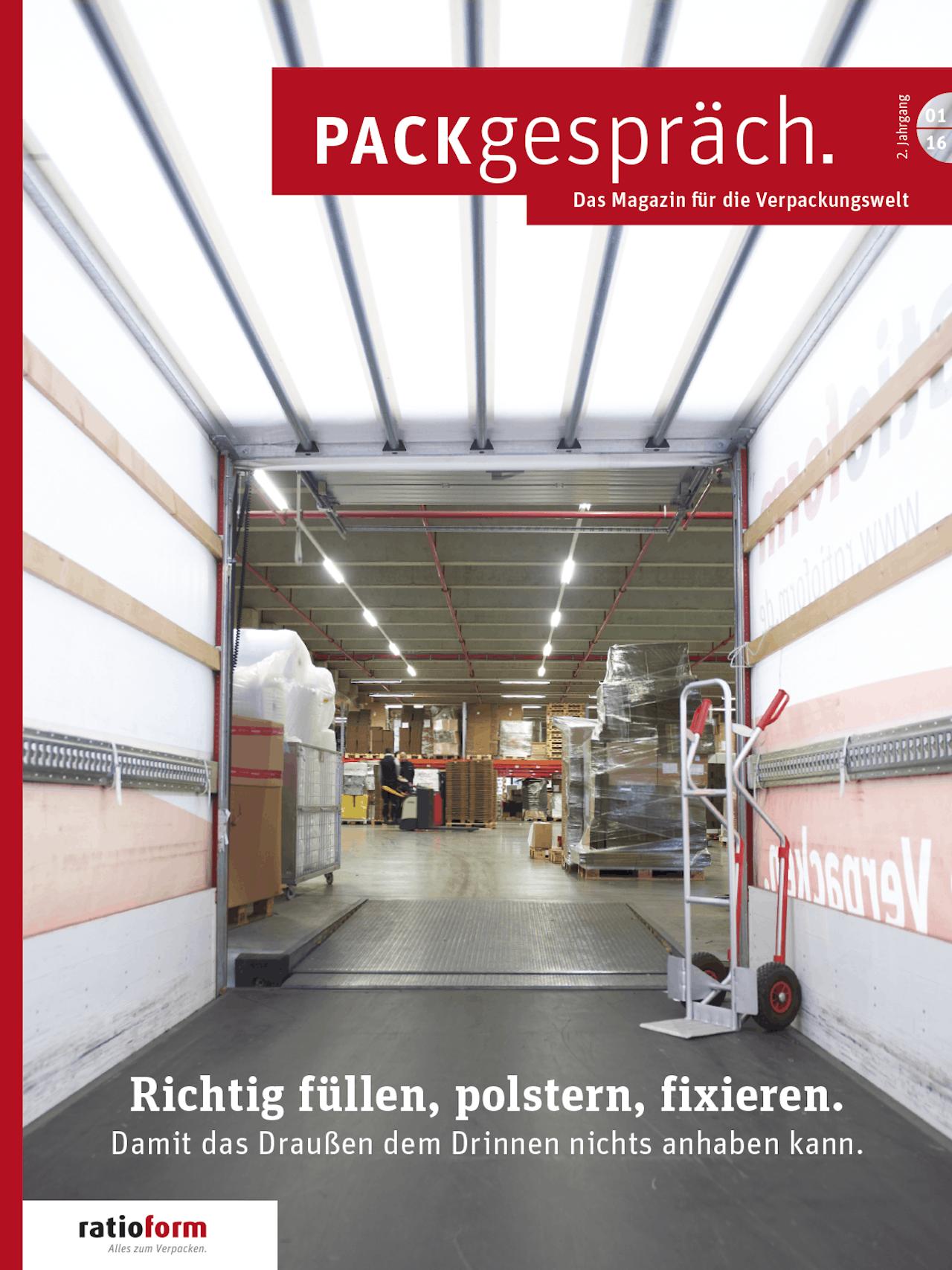 Packgespräch, Magazin Verpackungswelt 01 16