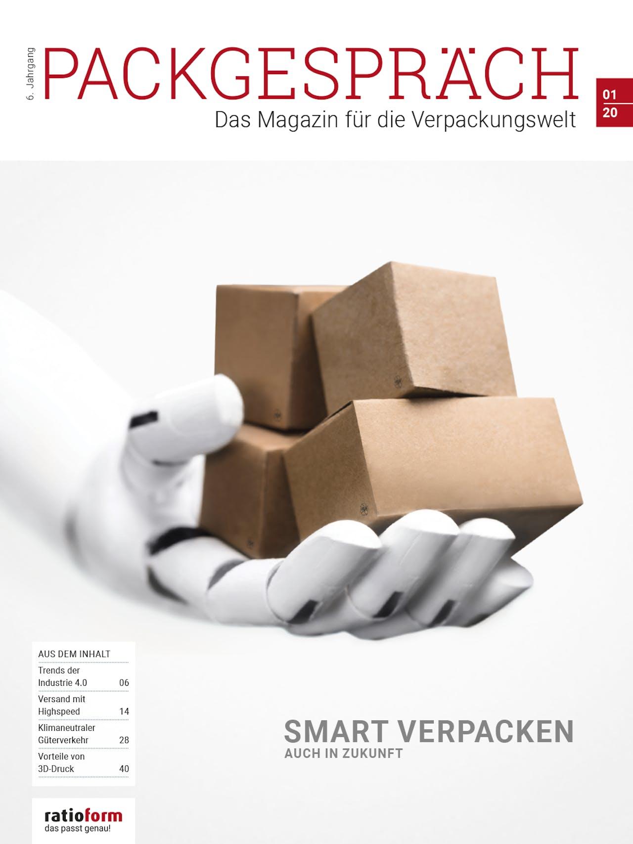 Packgespräch, Magazin Verpackungswelt 01 20