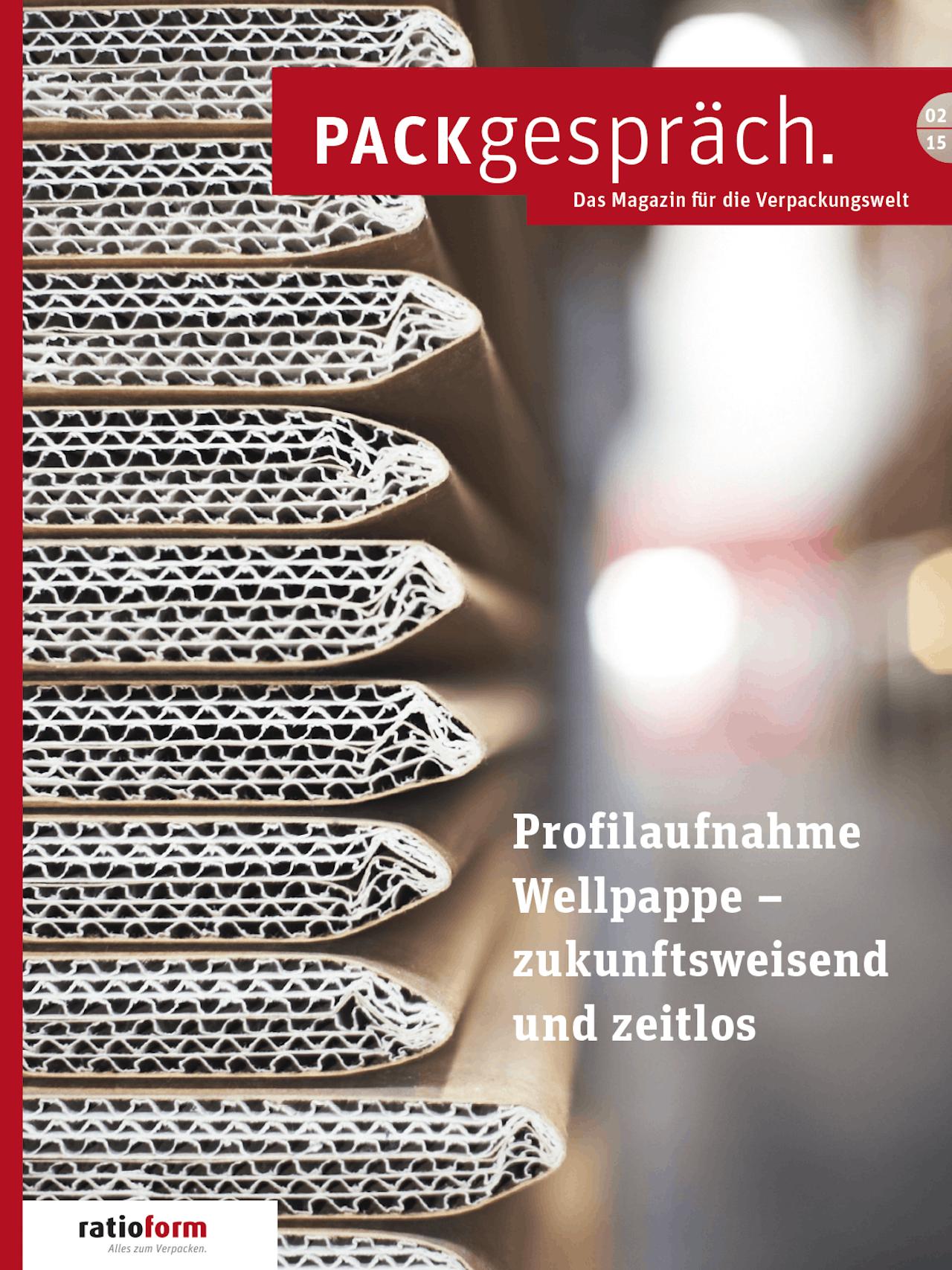 Packgespräch, Magazin Verpackungswelt 02 15