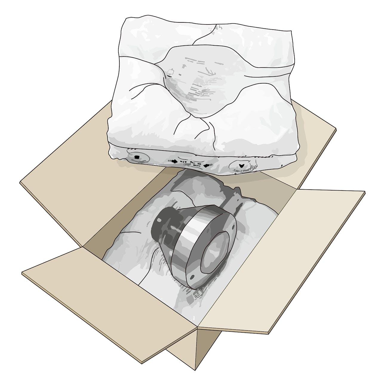 Schaumverpackung Skizze