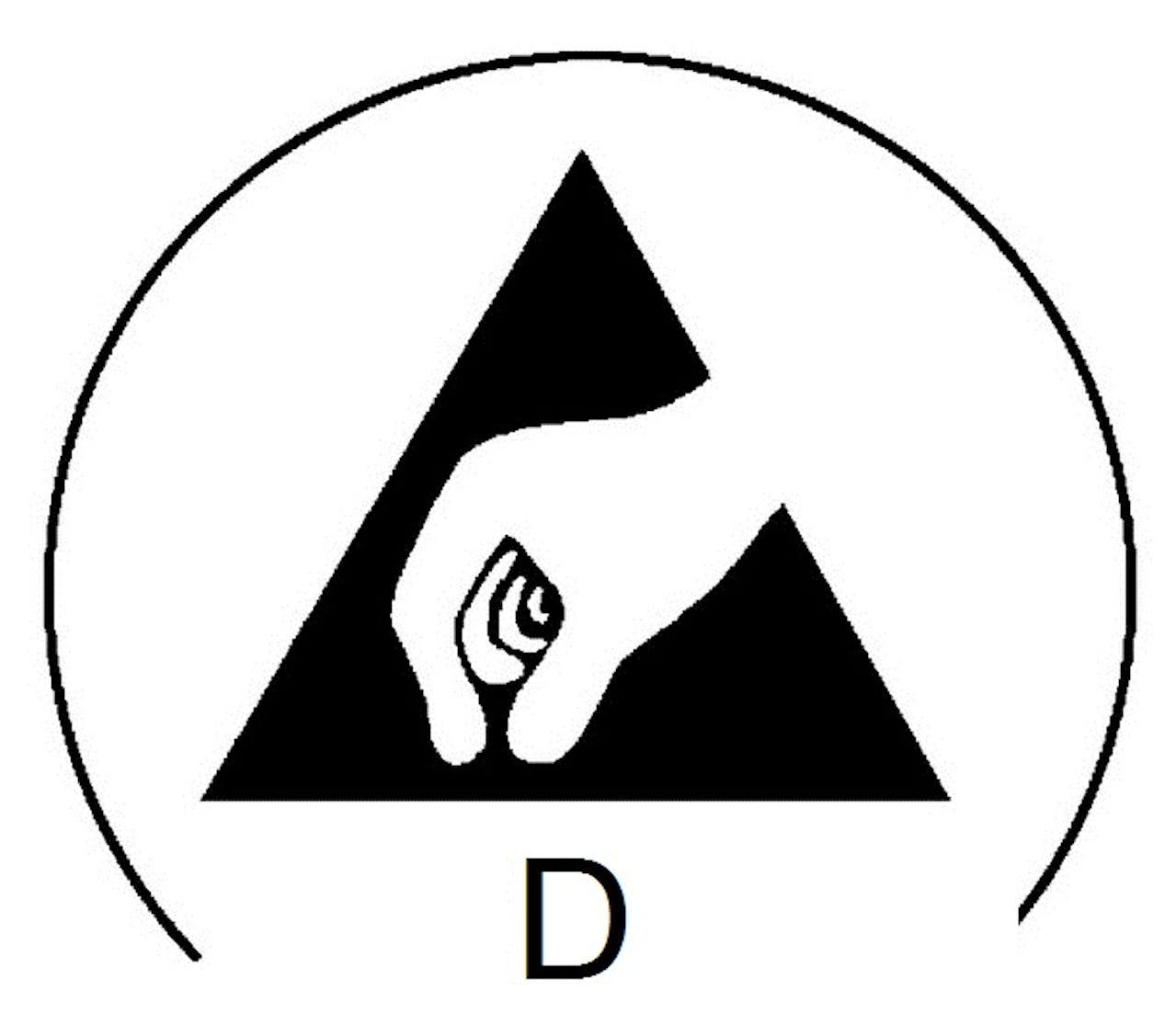 """Icon Elektrostatisch ableitend, """"Dissipative"""""""