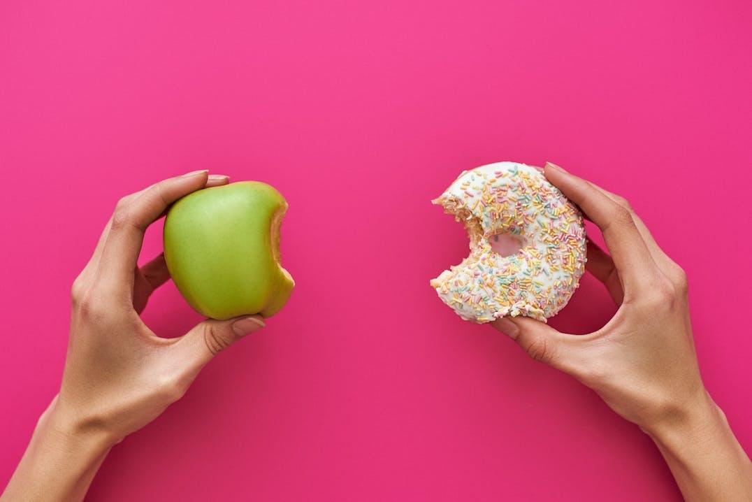 Apfel oder Donut?