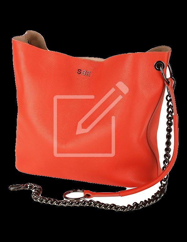 Großer Shopper aus Leder – personalisiert
