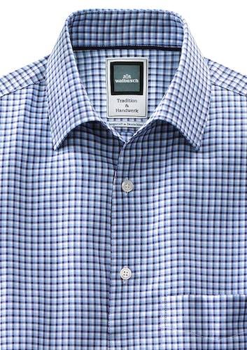 Karo-Hemd von Haupt Blau/Weiß