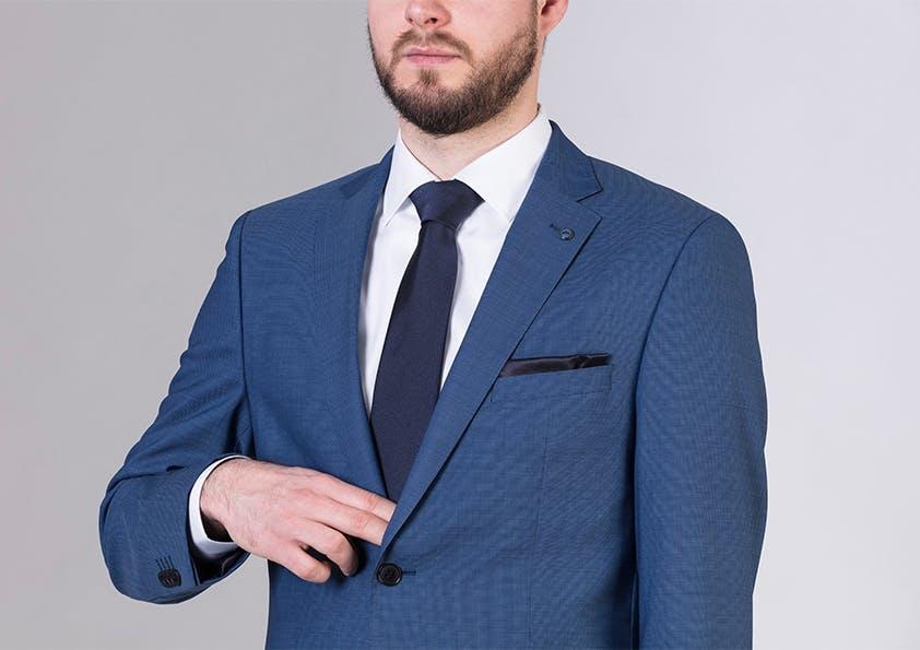 Mann im anzug – Zwei-Finger-Test