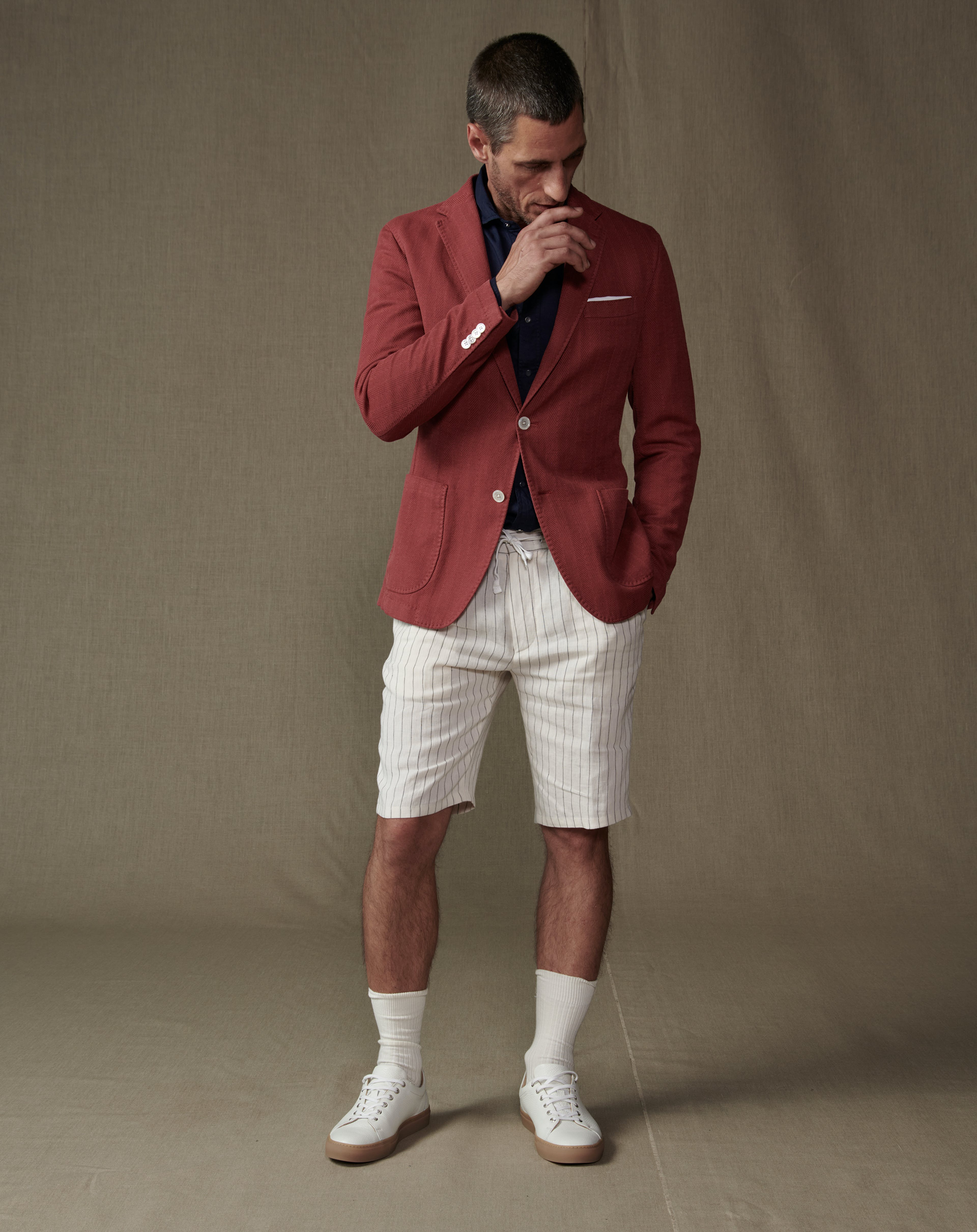 Herren Look Sakko Shorts