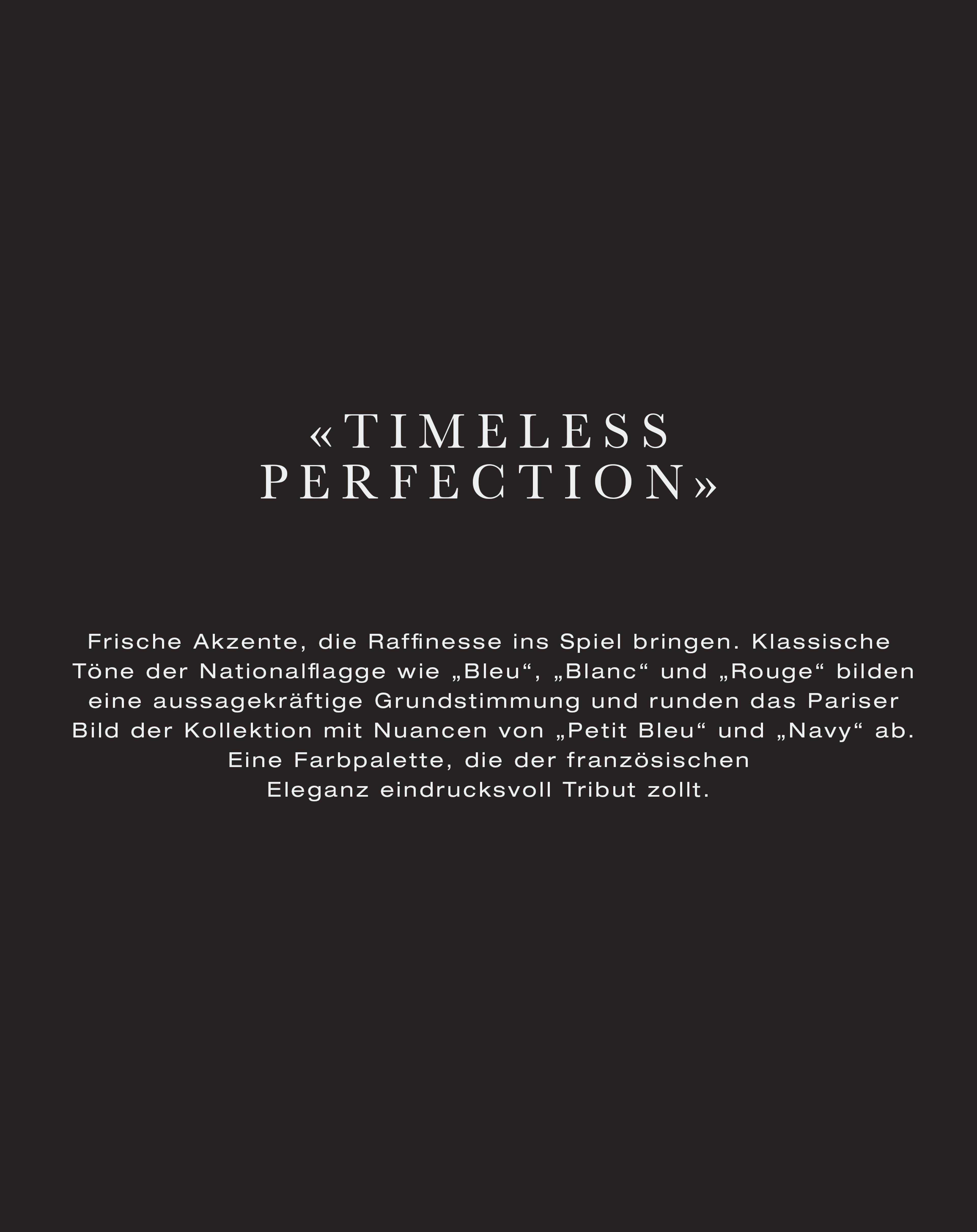 Timeless Perfection