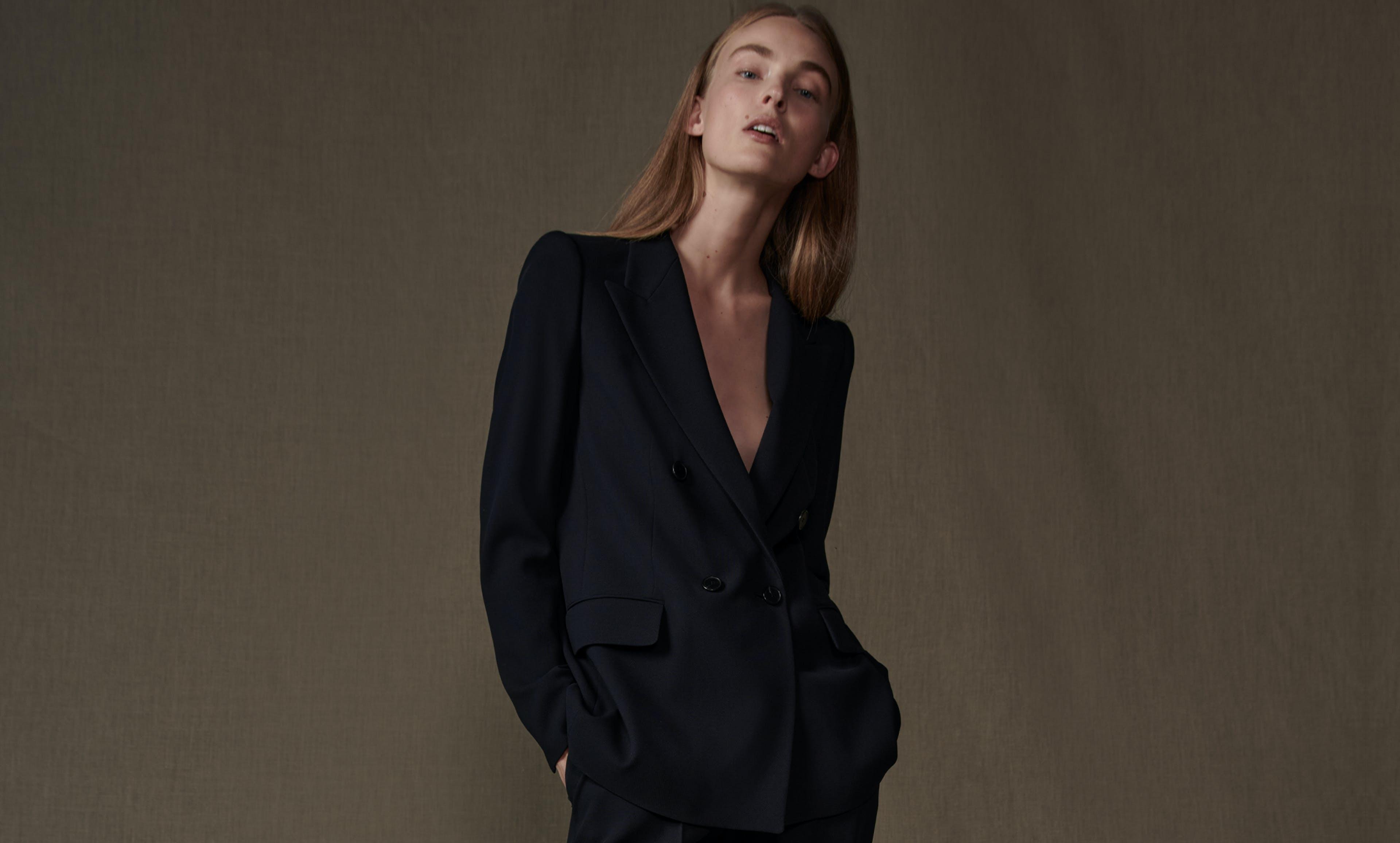 damen schwarzer blazer
