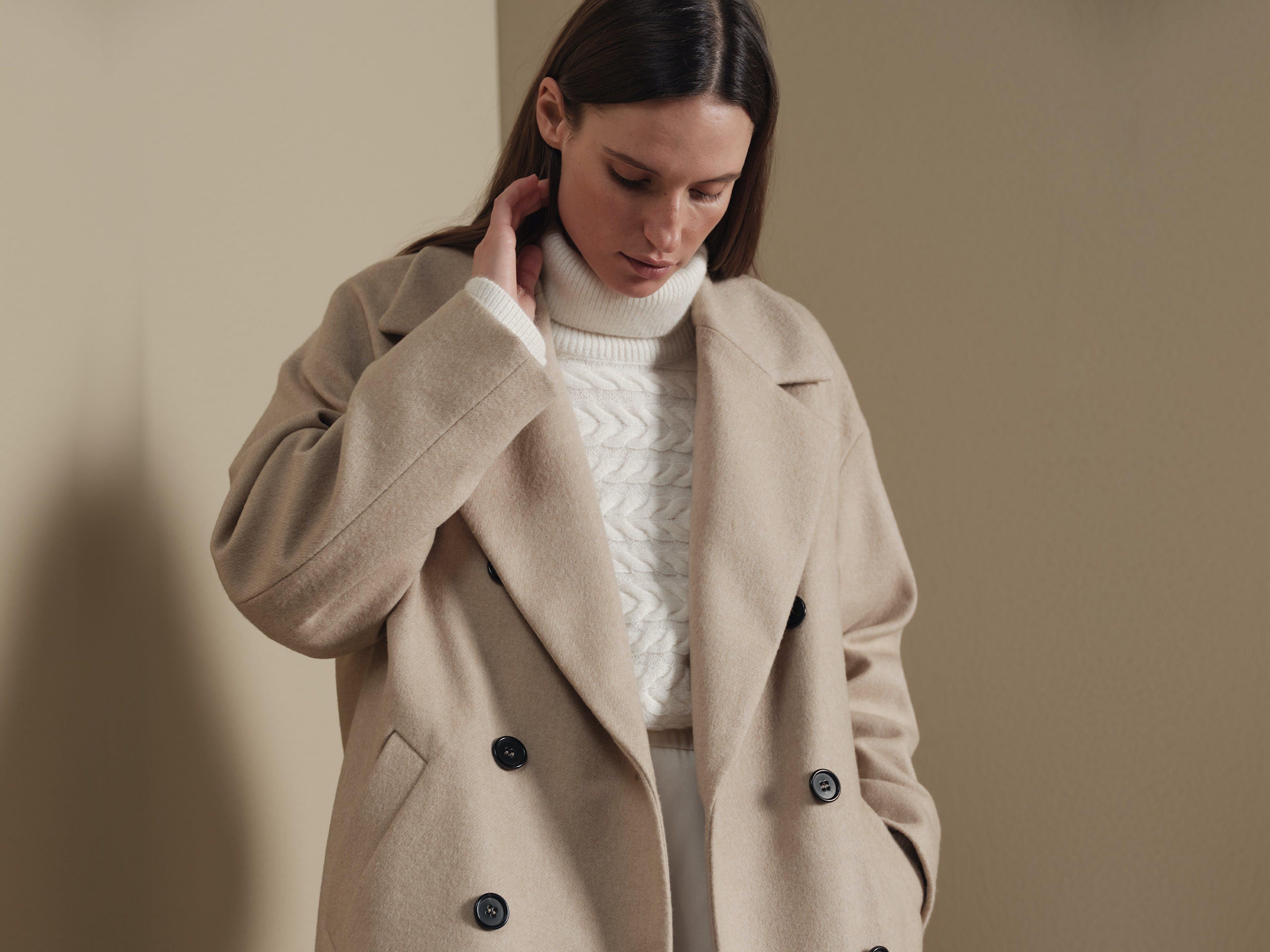 Damen Mantel in beige