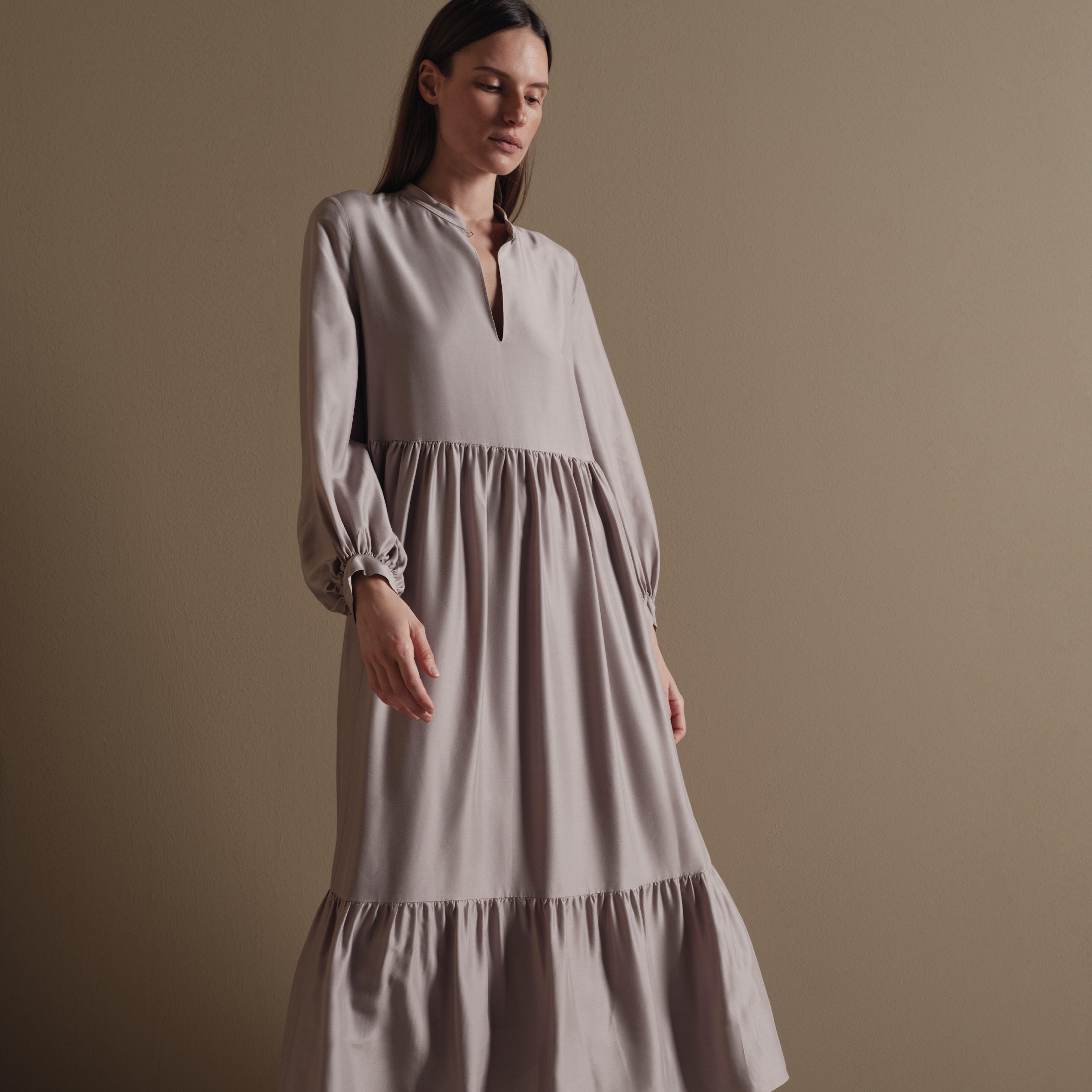 Damen Kleid beige
