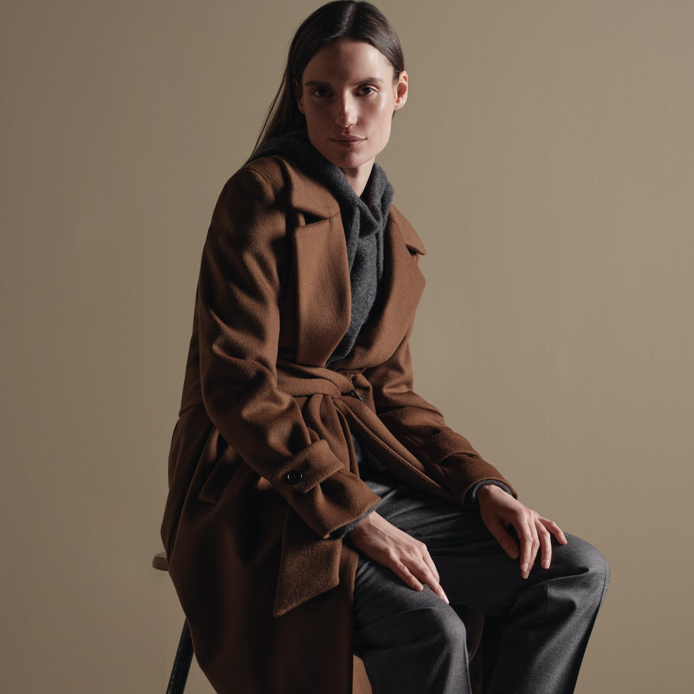 Damen Mantel in braun