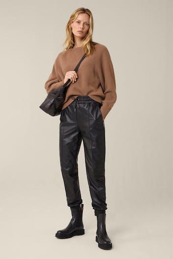 Cashmere-Pullover mit Raglan-Ärmel in Camel