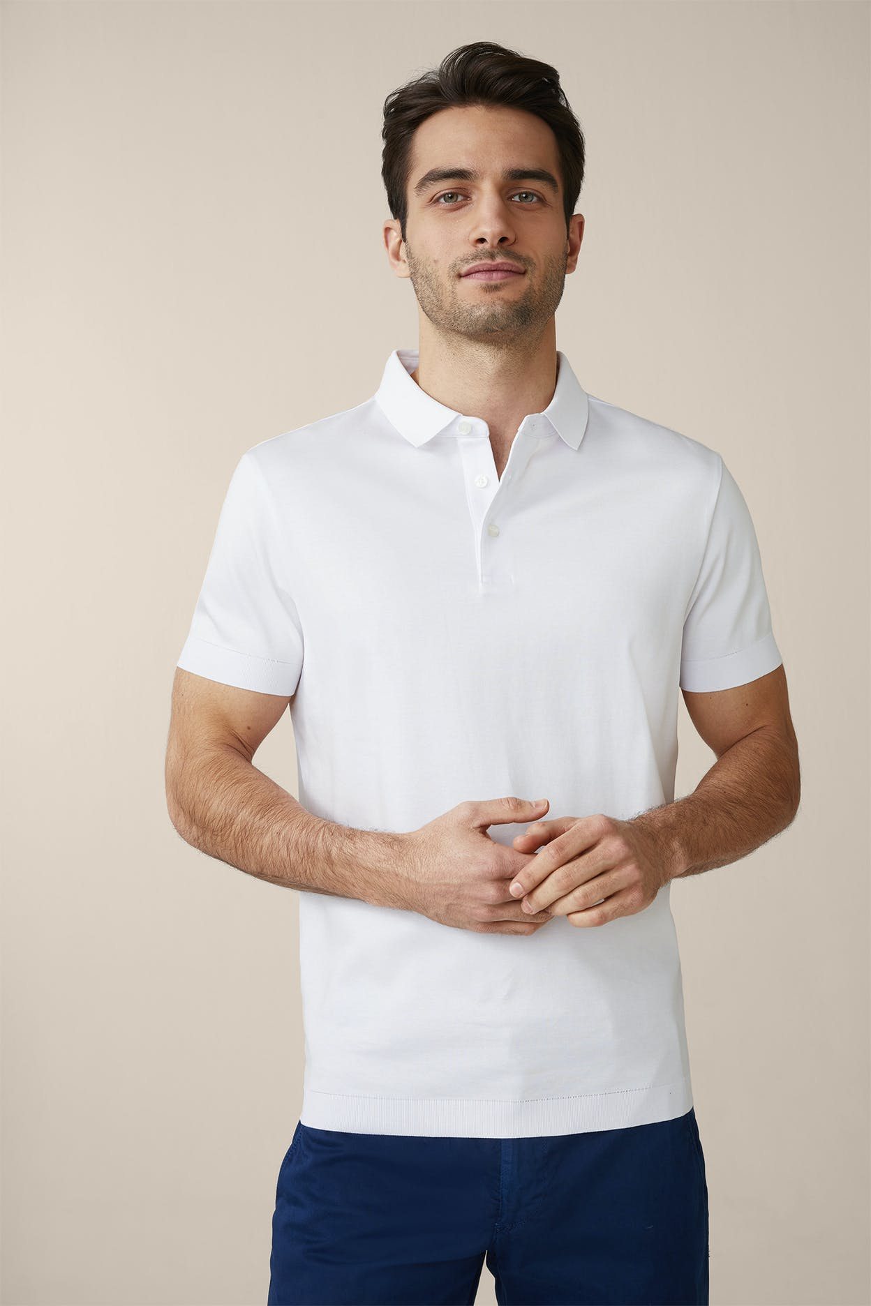Poloshirt Floro in Weiß