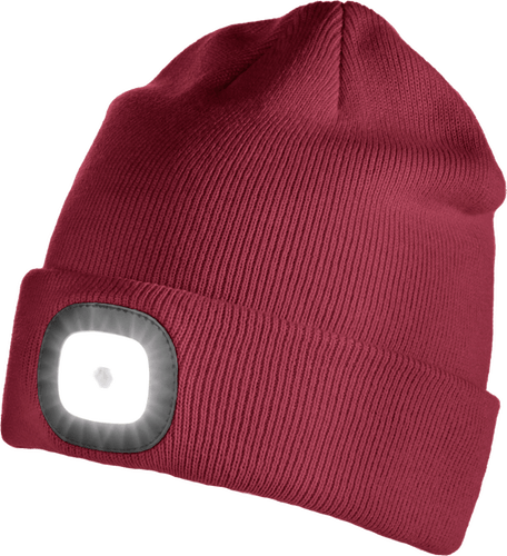 Iceport LED Beanie Lighty - Dark Red