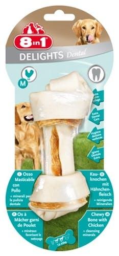8in1 - Kausnack - Delights Dental Kauknochen mit Huhn