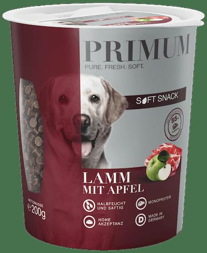 Primum - Hundesnack - Soft Snack Lamm mit Apfel 200g (getreidefrei)