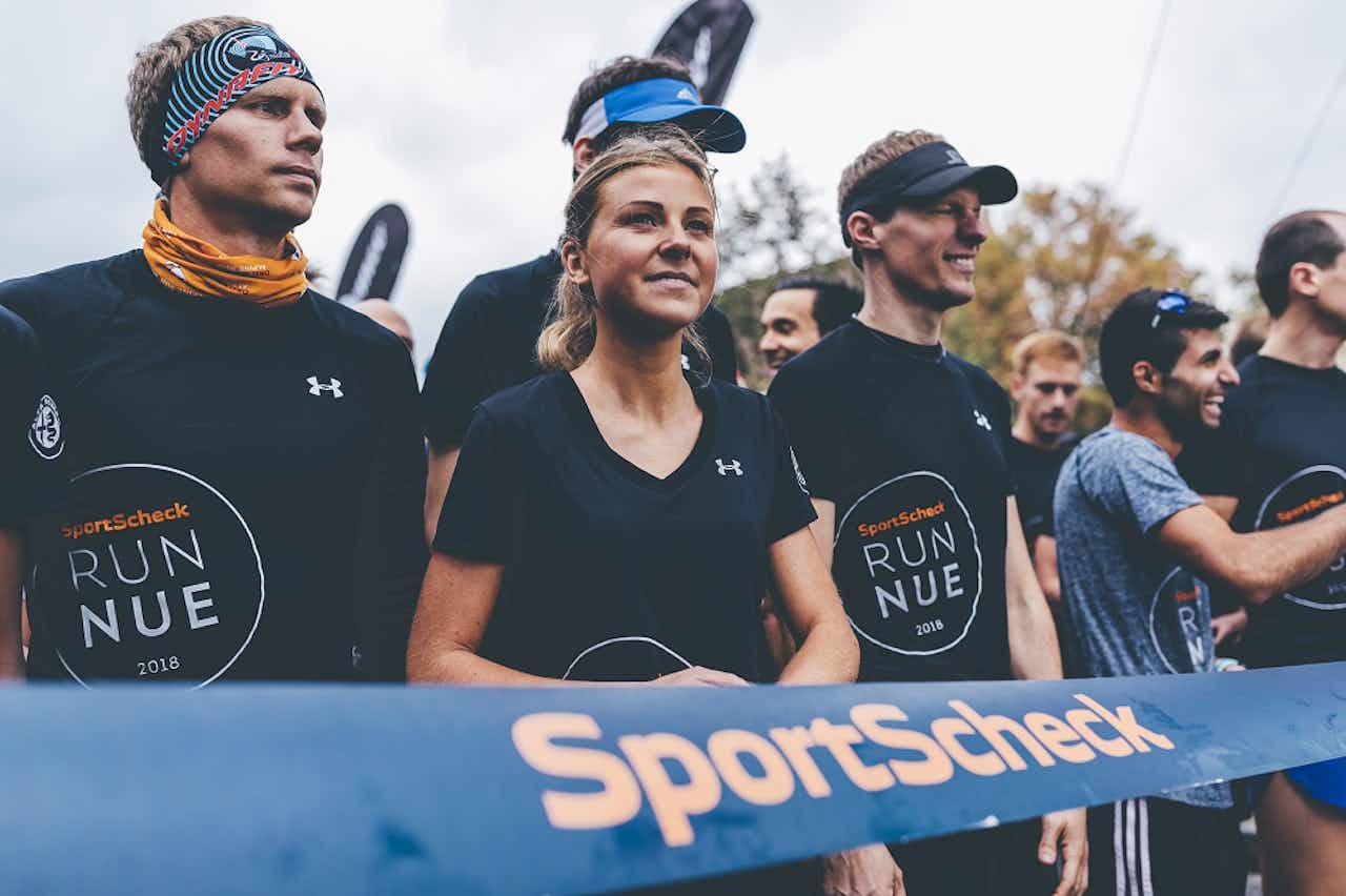 Julia Breuing beim Start des SportScheck Run in Nürnberg