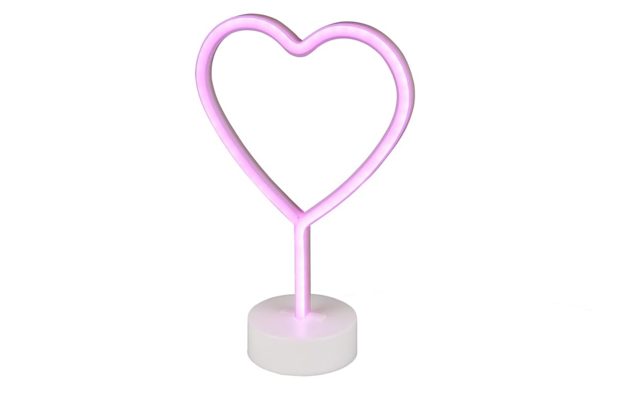 LED-Tischleuchte Heart in weiß
