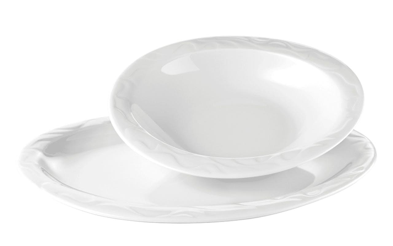 Tafelservice Allegro in weiß, 12-teilig