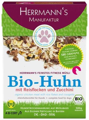 Herrmann's - Trockenfutter - Fitnessmüsli Bio-Huhn mit Reisflocken und Zucchini 2,5kg