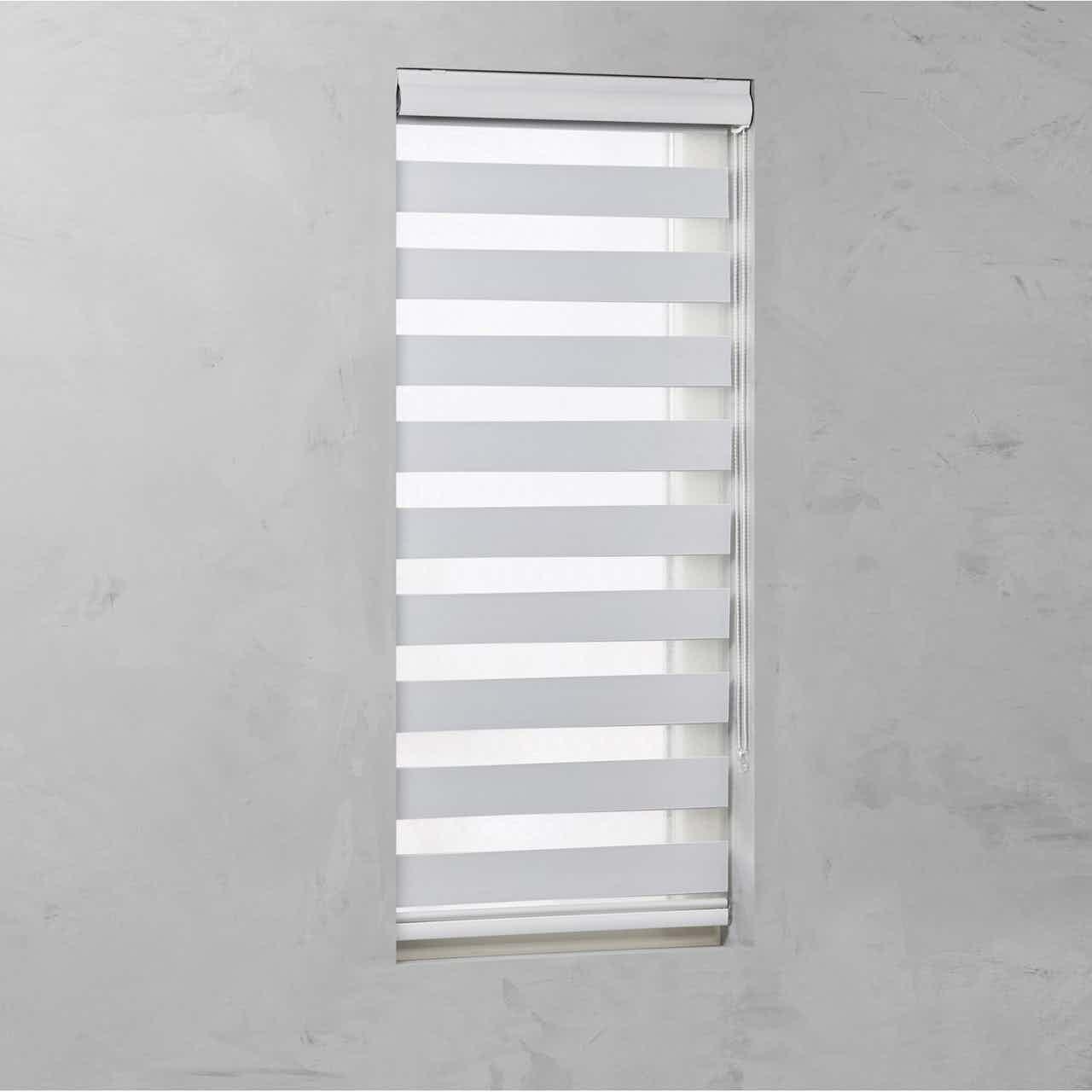 Cocoon Doppelrollo mit Kassette Tageslicht Weiß 120 cm x 175 cm
