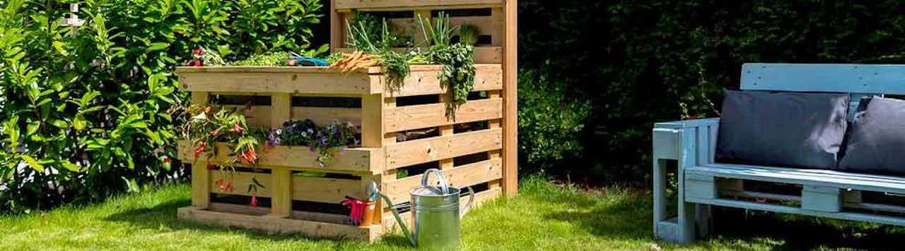 Hochbeet aus Paletten einfach selber bauen