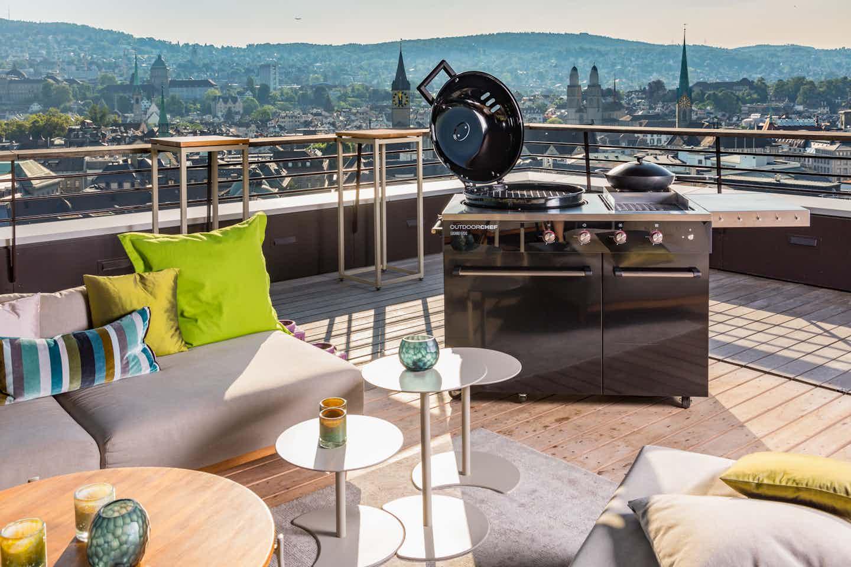 Outdoorchef- Grill für Dachterrasse