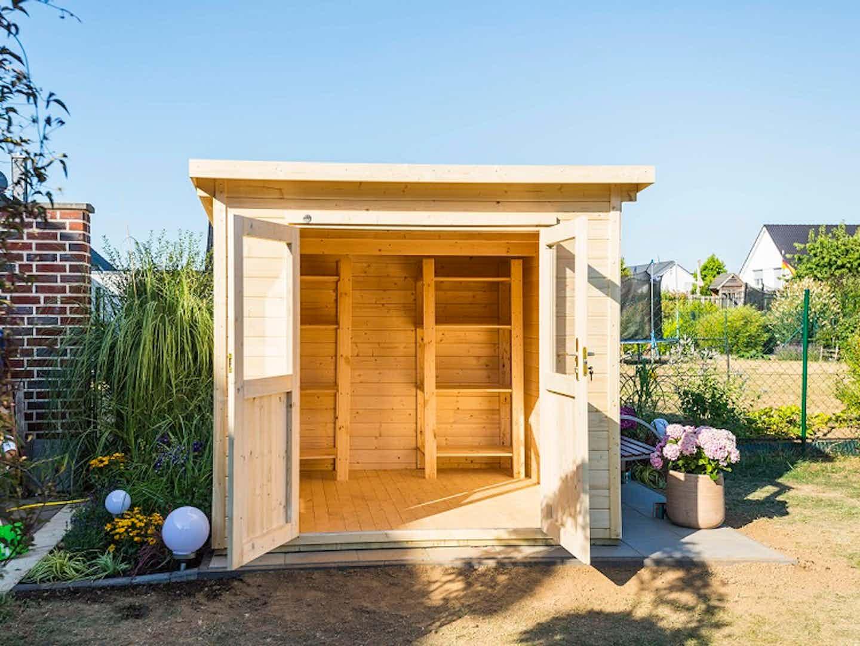 Nachher: Das neue Holzgartenhaus für den Garten