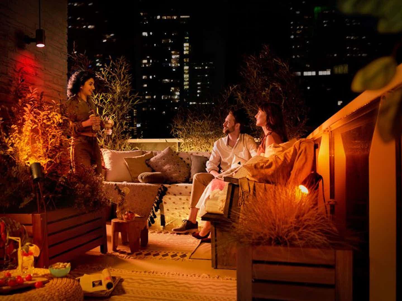 Philips Hue smarte Beleuchtung für Balkon