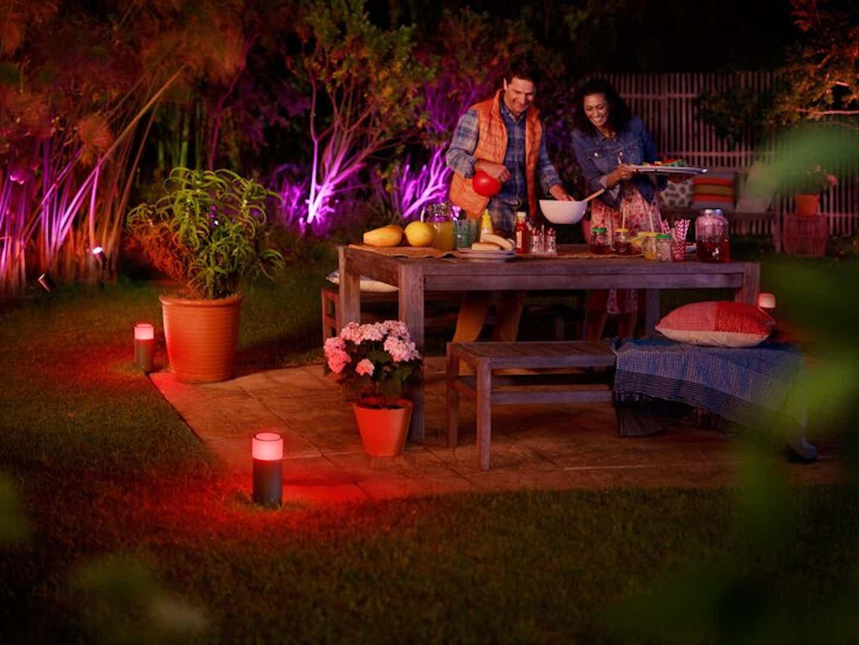 Philips Hue Beleuchtung für Terrasse