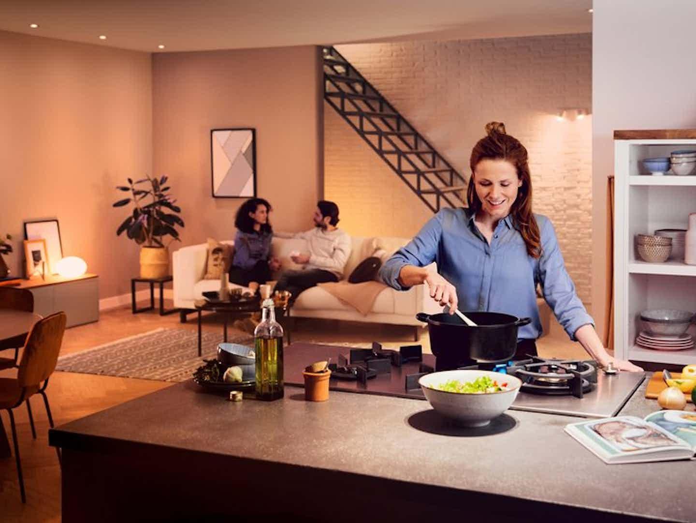 Philips Hue Smarte Lampen fürs Wohnzimmer