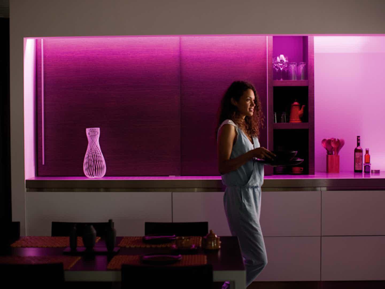Philips Hue Lightstripes für indirekte Beleuchtung