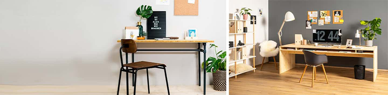 Schreibtisch selbst bauen Arbeitszimmer