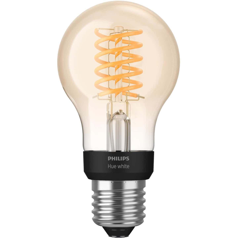 Philips Hue LED-Lampe Filament White E27 Einzelpack 9 W Bluetooth EEK: A+
