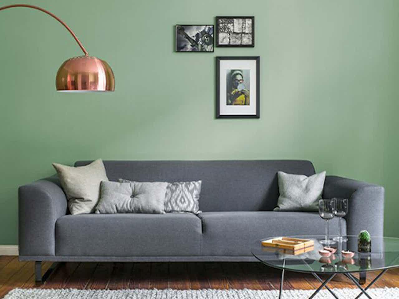 Alpina Feine Farbe, grüne Wandfarbe für innen