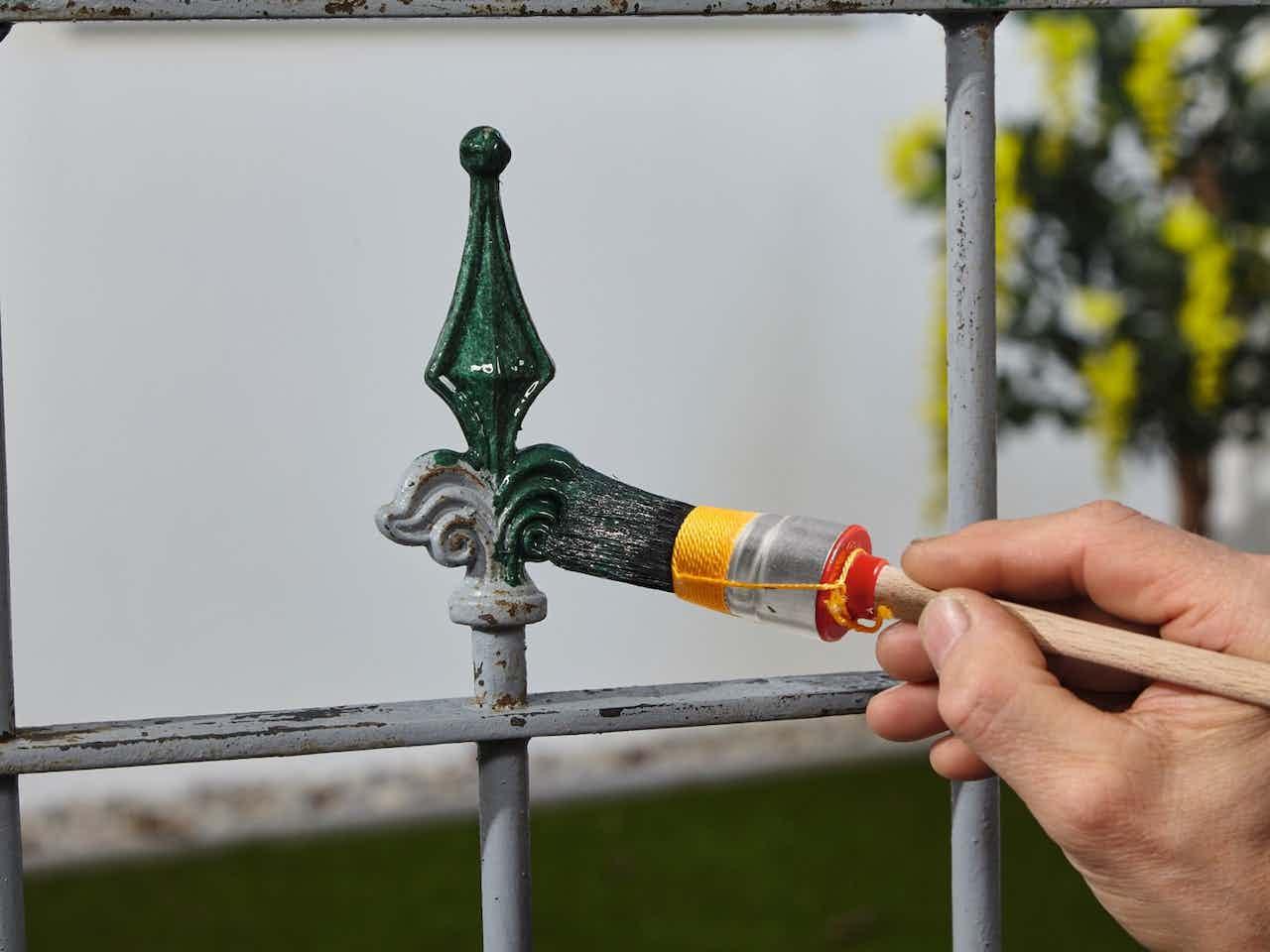 Alpina Metallschutz für außen, Farbe Grün