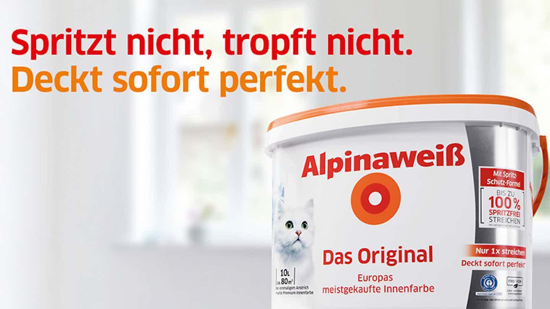 Alpinaweiß das Original, weiße Farbe