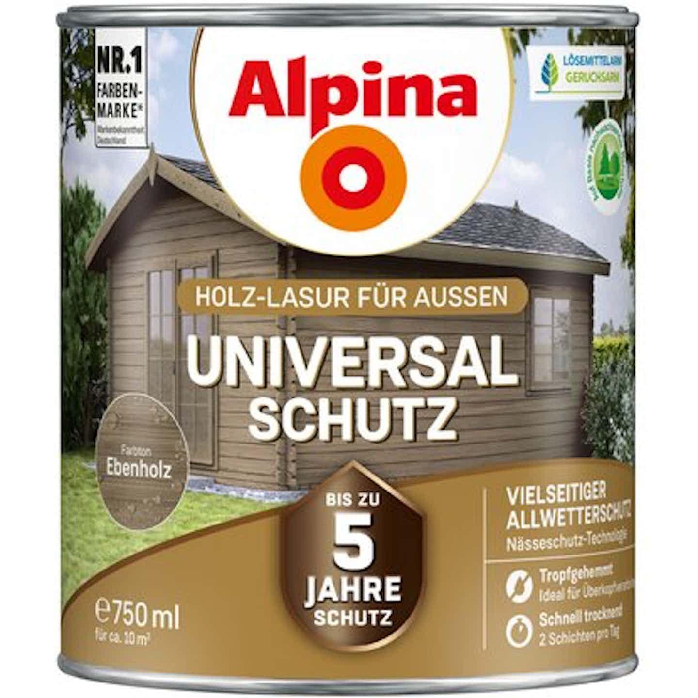 Alpina Universal-Schutz Ebenholz seidenmatt 750 ml