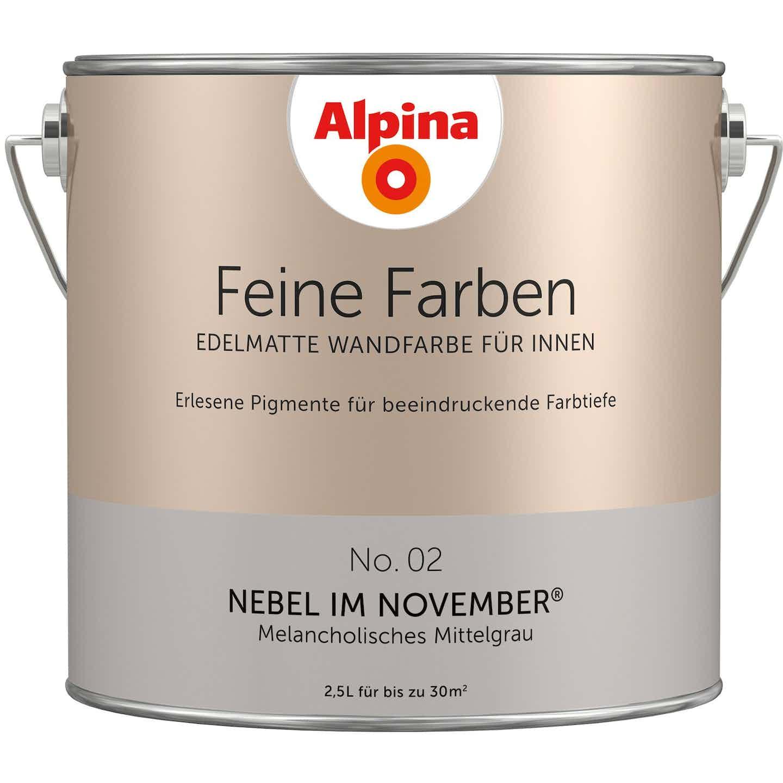 Alpina Feine Farben No. 2 Nebel im November edelmatt 2,5 Liter