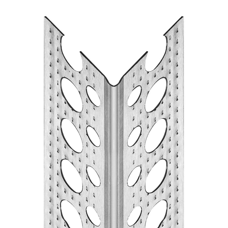 Alu-Eckschoner für Gipskarton ca. 23,5 mm x 23,5 mm x 2500 mm