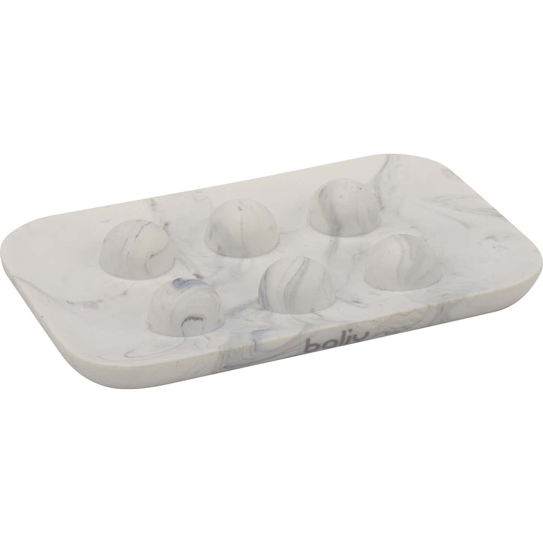 baliv Seifenschale Retro Futures Marmor Weiß-Grau