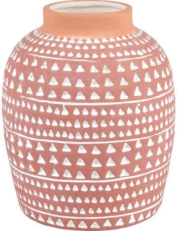 Vase Desert Flower Keramik 18,5 cm x Ø 15 cm Terrakotta