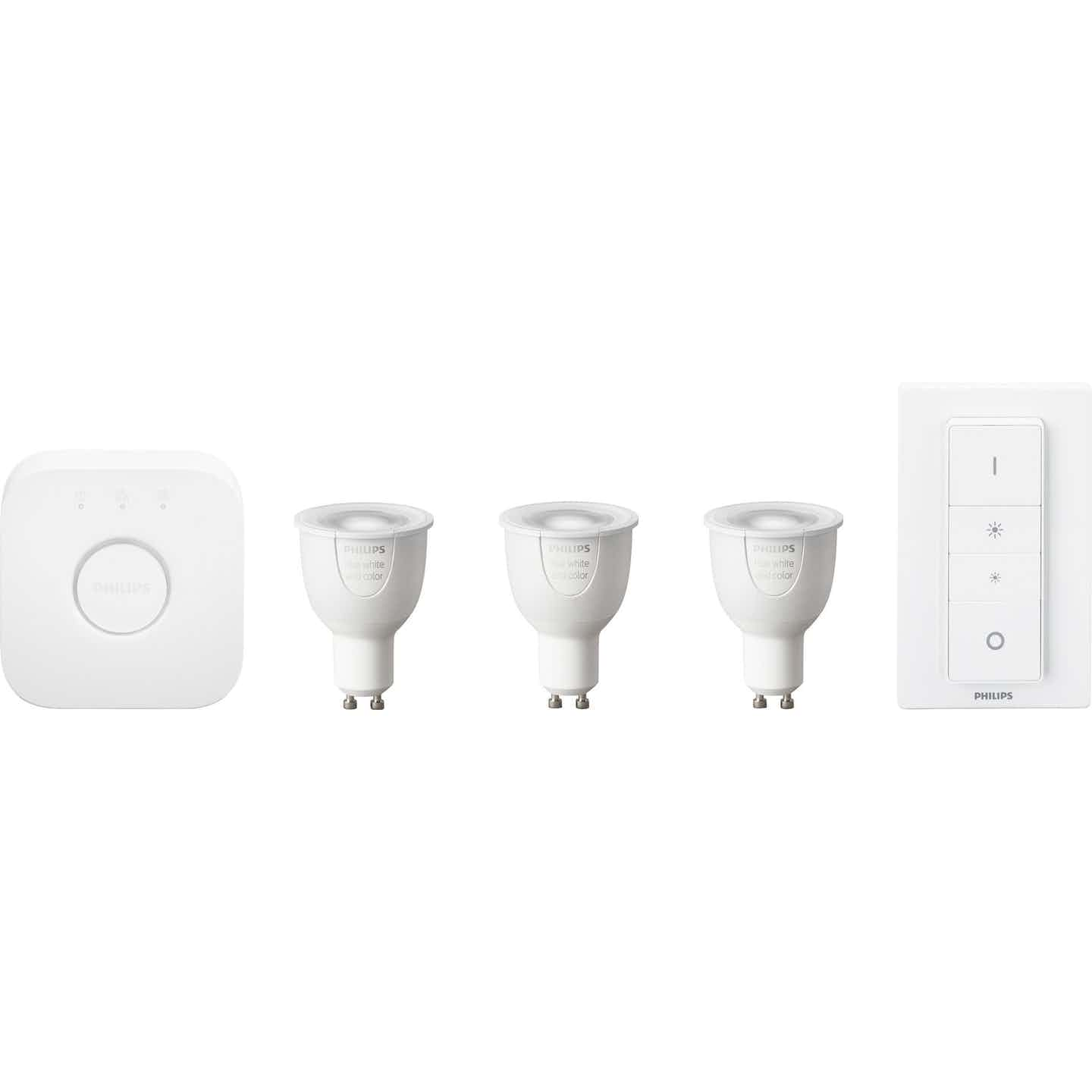 Philips Hue LED-Lampe White and Color Ambiance Starter Kit GU10/6,5 W EEK: A