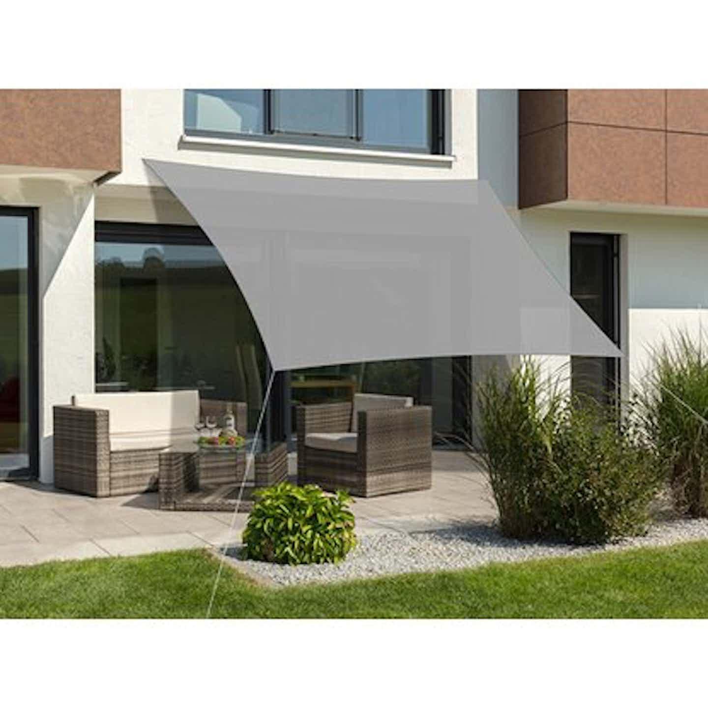 Schneider Sonnensegel Lanzarote Silbergrau 400 x 400 cm