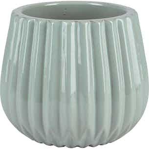 Pflanztopf Minimalist Zen Keramik Ø 20,5 cm Mintgrau