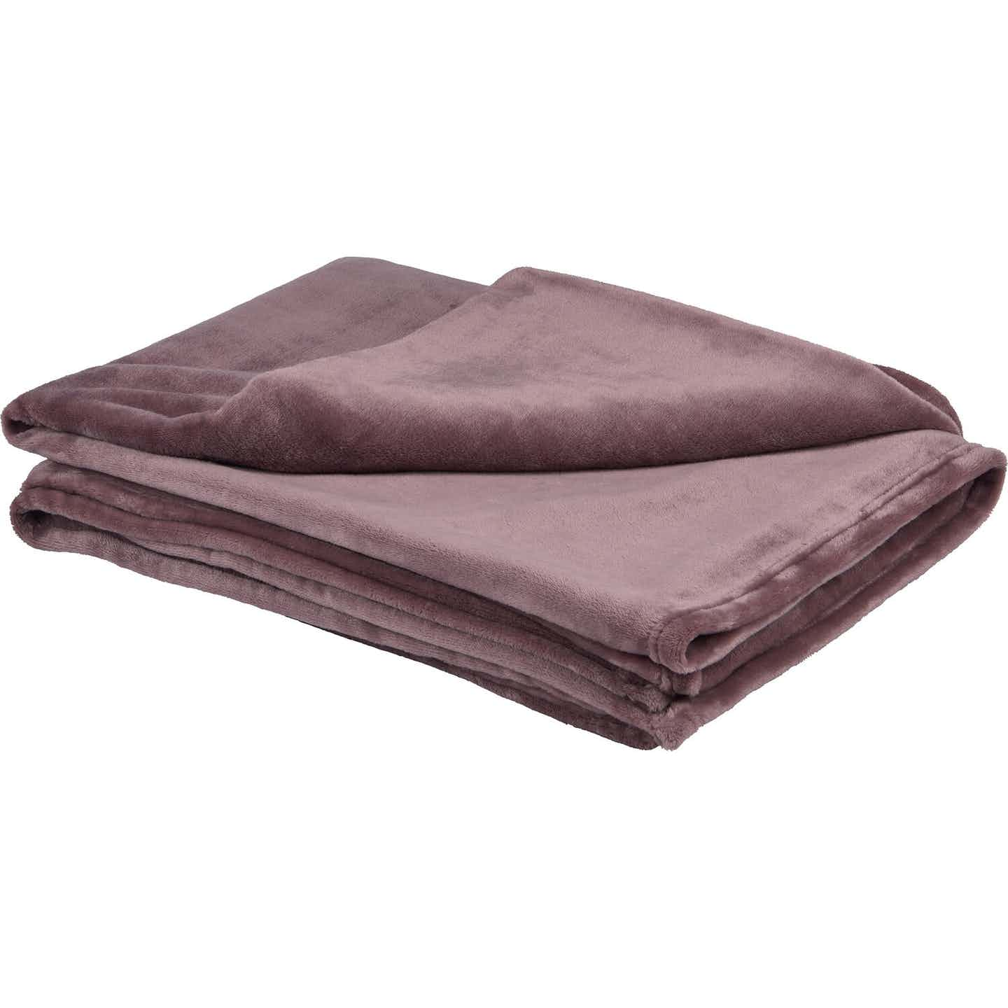 Fleece-Decke Blush Bordeaux Rosa 150 cm x 200 cm